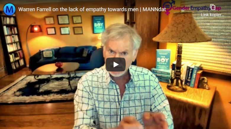 MANNdat interviews Warren Farrell on the Gender Empathy Gap